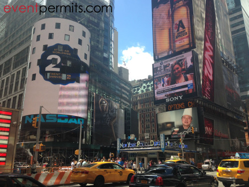 Street to Screen event in Times Square