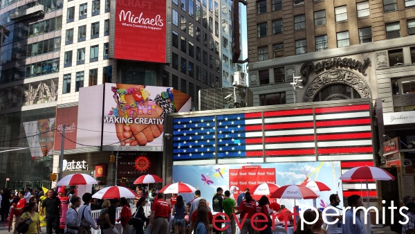 ipo launch event in times square